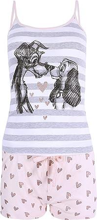 Pijama de color blanco-albaricoque compuesto por una camiseta de tirantes y pantalones cortos.,Pijam