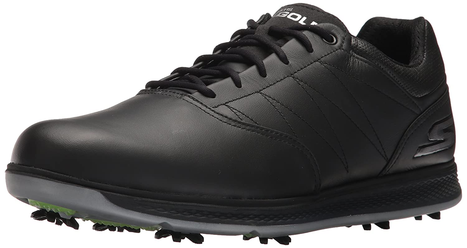 Skechers Men's Go Golf Pro 3 Lx Golf Shoe B06XSQWQ5V 9 D(M) US|Black/Silver