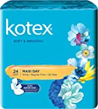 Kotex Soft and Smooth Maxi Wing Feminine Care Pads, 24cm, 26ct