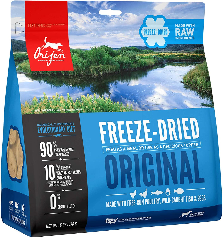 ORIJEN Original Recipe Grain Free High Protein Premium Raw Poultry Freeze Dried Dog Food, 6 oz.