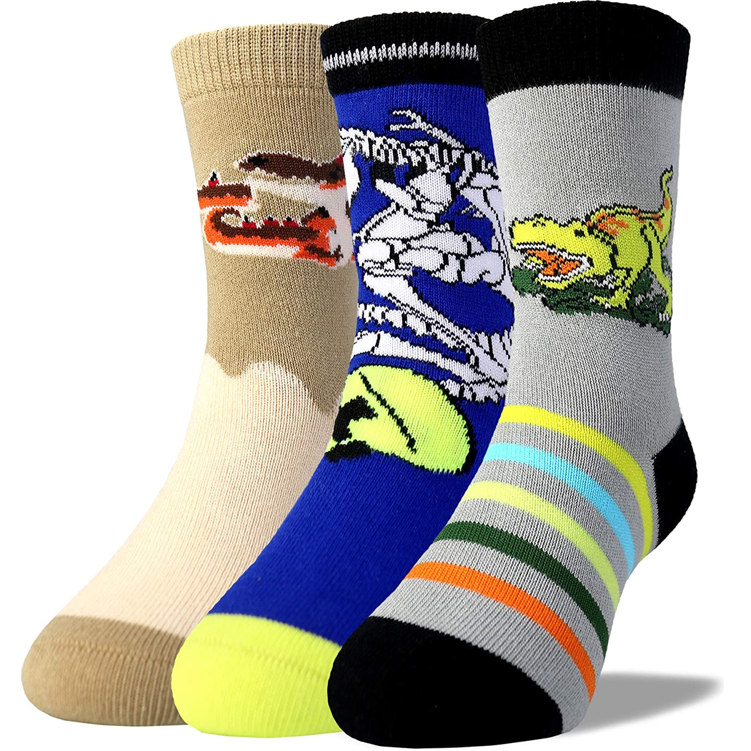6823d2c8343b Kids Boys Fashion Cute Pattern Design Combed Cotton Dress Socks-Soft,  Non-Skid