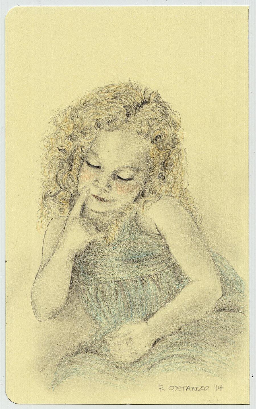 Custom Child Portrait from Photograph