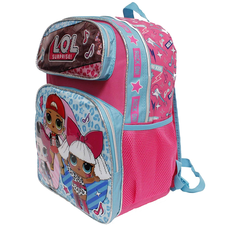 Diva L.O.L Surpise 16 Large Girls School Backpack-Glee Club Rocker M.C Swag