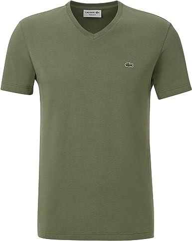 Lacoste TH2036 - Camiseta de manga corta para hombre, cuello en V, corte regular Aucuba (xzd). XXXX-Large: Amazon.es: Ropa y accesorios