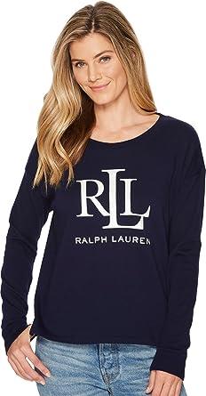 7ff6b065fc9 Lauren Ralph Lauren Women s LRL French Terry Sweatshirt Navy Large ...