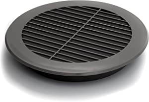 Vent Systems Soffit Vent Cover - Round Air Vent Louver - Grill Cover - Built-in Insect Screen - HVAC Vents for Bathroom, Home Office, Kitchen 6'' Inch Gray