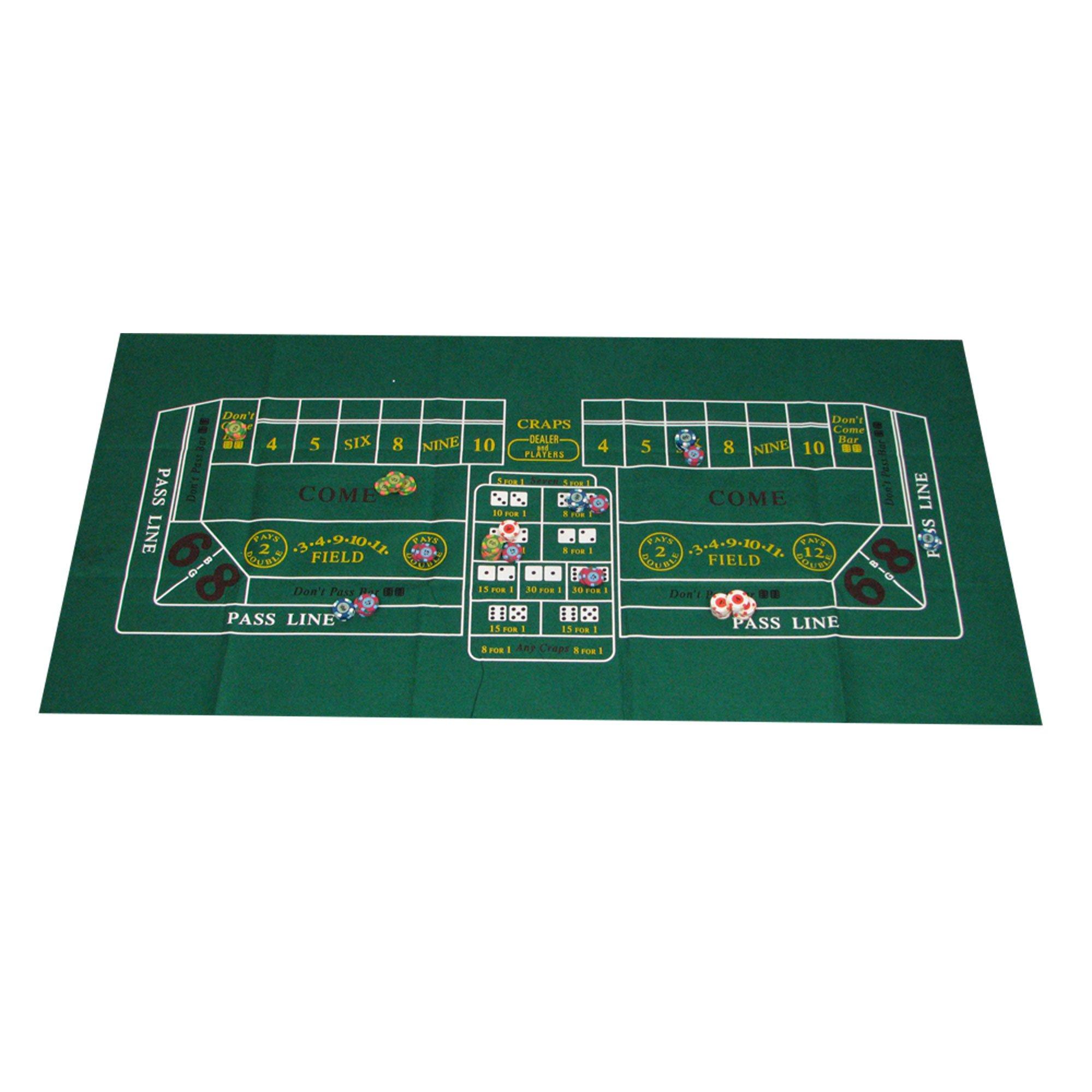 Trademark Poker Casino Craps Layout, 24x48-Inch
