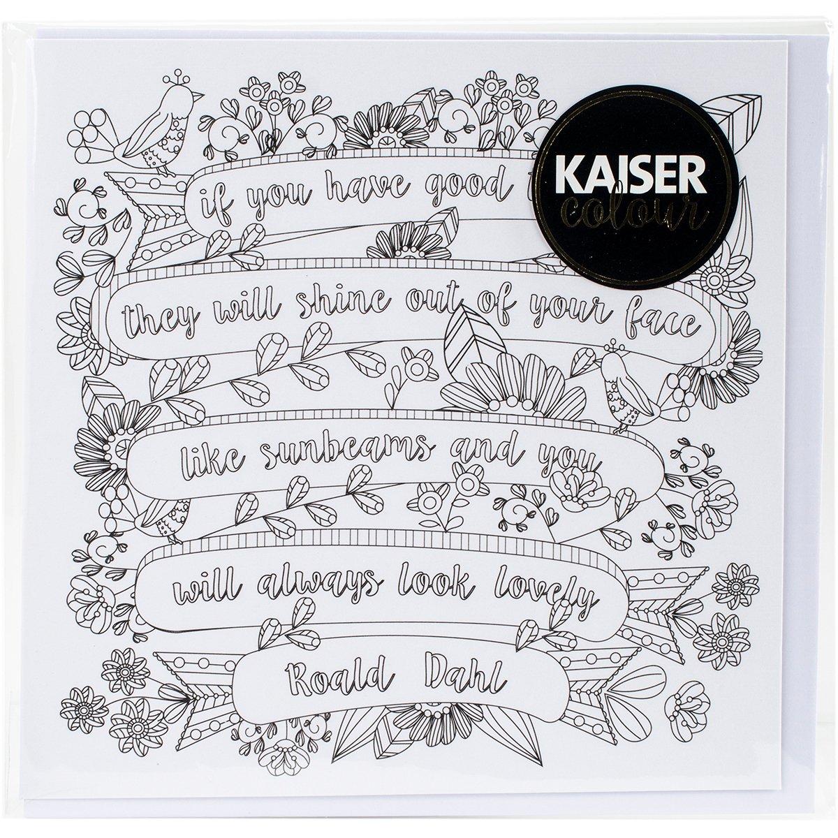 Kaisercraft Sunbeams KaiserColour Gift Card with Envelope, 6 x 6 6 x 6 CL1002