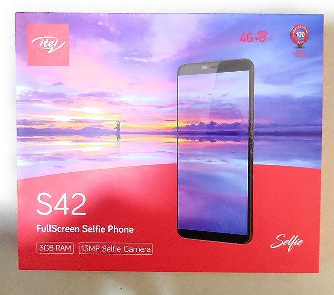 Itel S42 (Full Screen Smartphone), Capacity 16GB (Black