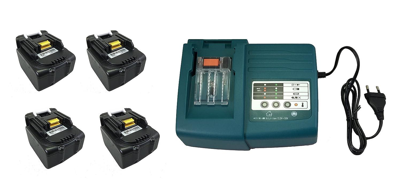 4PCS Werkzeug Akku Makita BL1415 BL1430 BL1440 14.4V 4000mAh mit 1PCS Makita Ladegeräte DC18RA DC18SC DC1803 DC1804 DC14SA