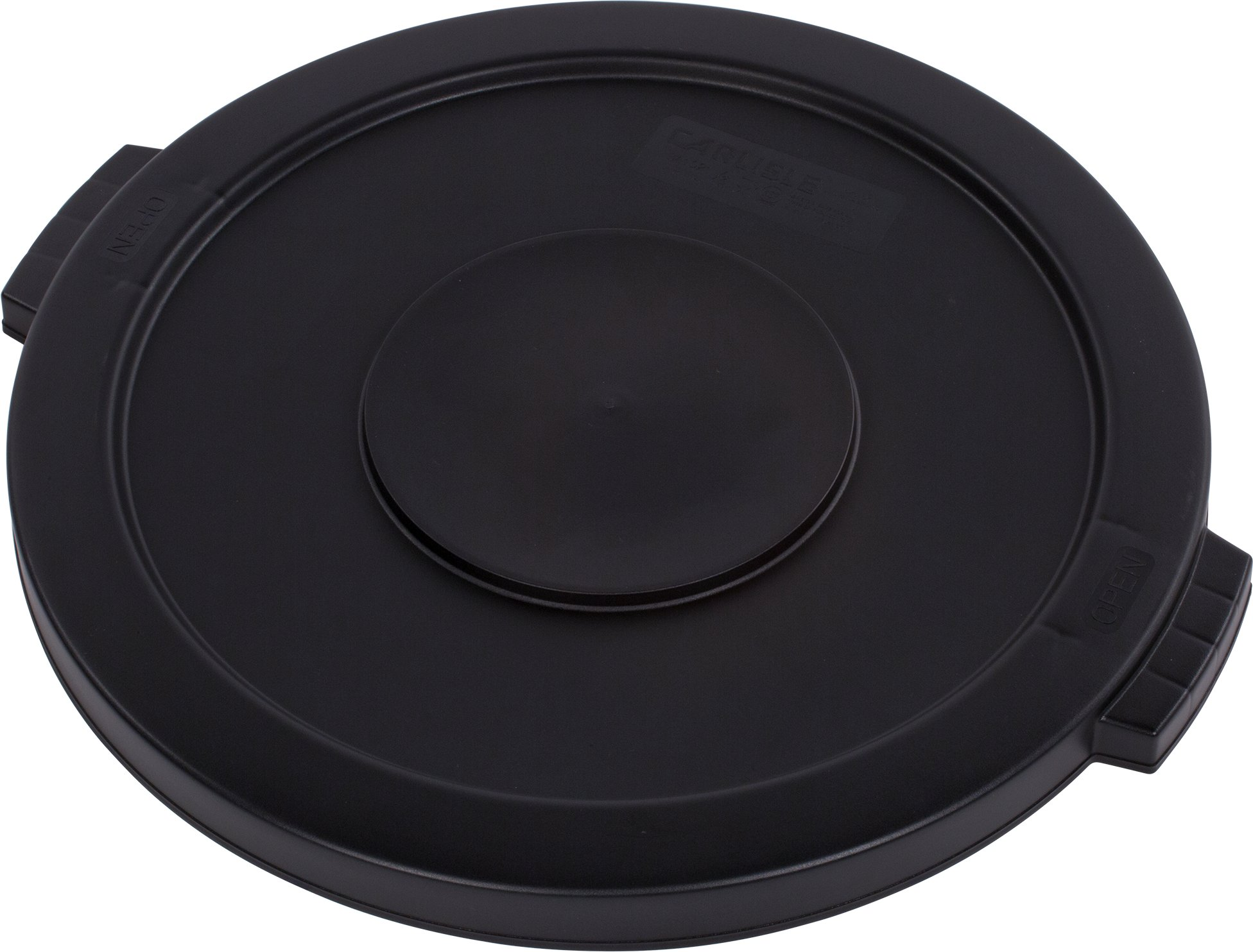 Carlisle 34102103 Bronco Round Waste Container Lid, 20'' Length, 20'' Width, 1.25'' Height, Polyethylene (LLDPE), Black, 20 gal (Pack of 6) by Carlisle