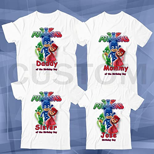 PJ Masks Shirt Custom Birthday Shirt Personalized Name and Age T-Shirt