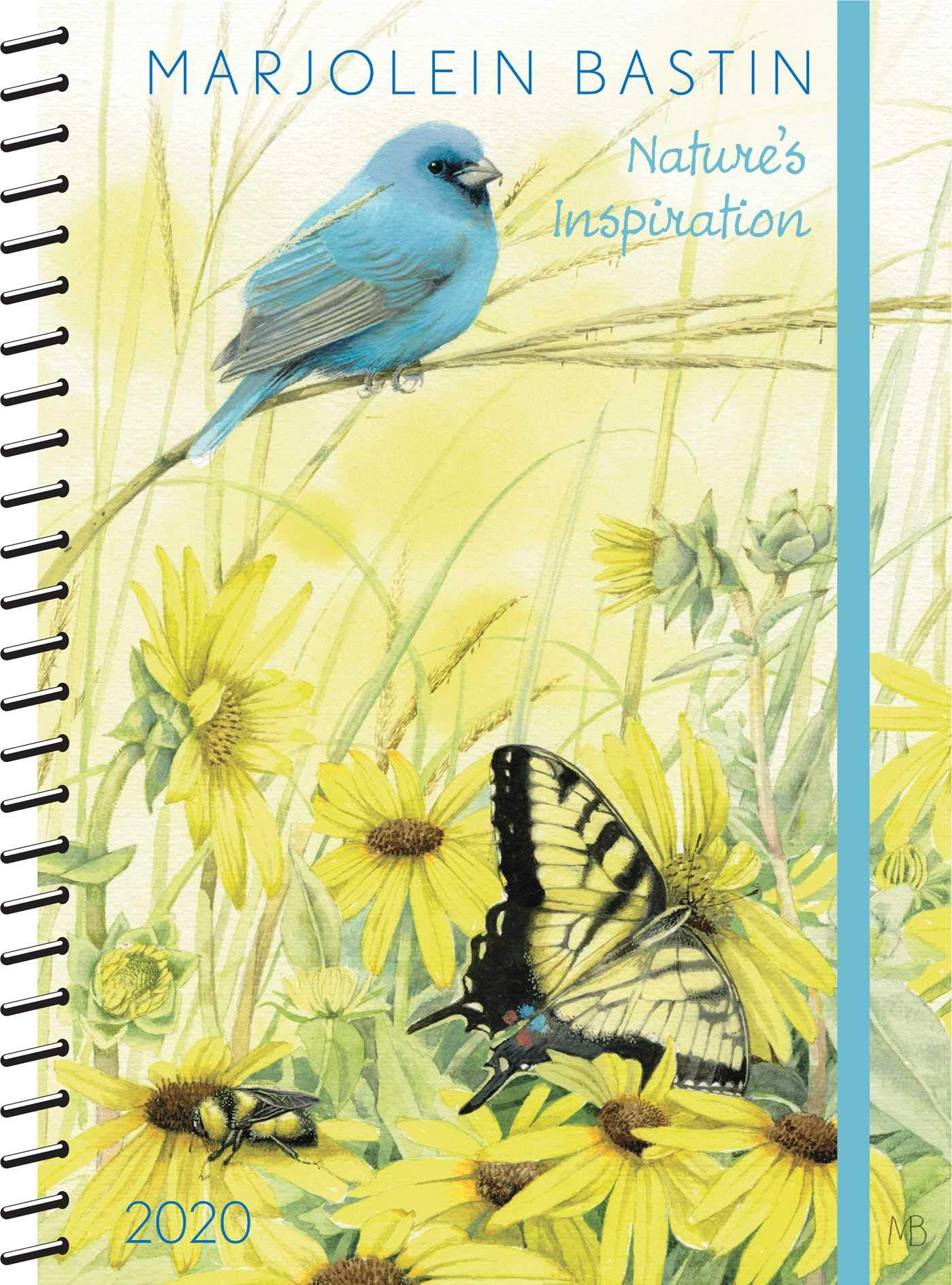 Hedendaags Marjolein Bastin 2020 Monthly/Weekly Planner Calendar: Nature's IQ-13