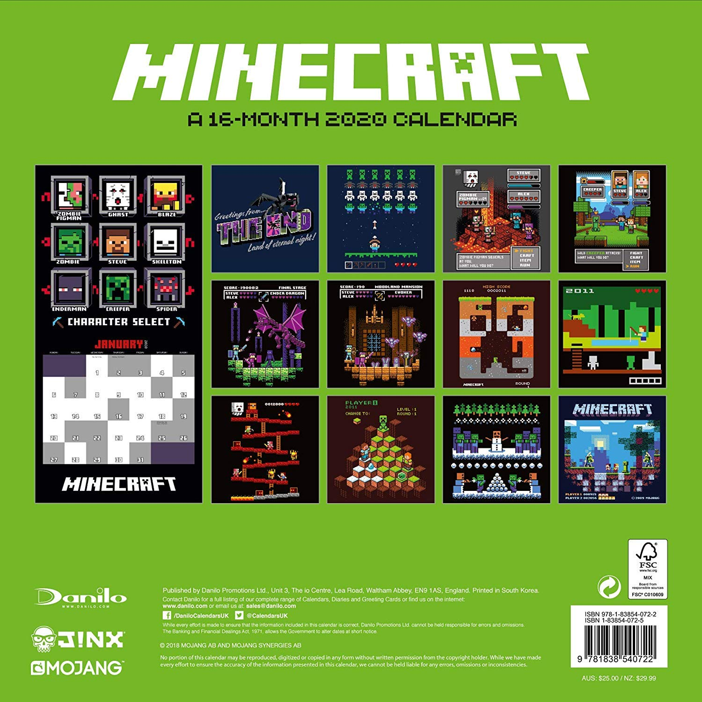 Minecraft 10 Calendar - Official Square Wall Format Calendar