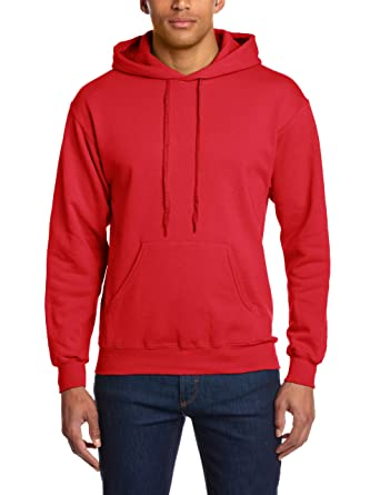 FRUIT OF THE LOOM HOODED SWEATSHIRT HOODIE - 18 COLOURS ALL SIZES (SMALL -  35