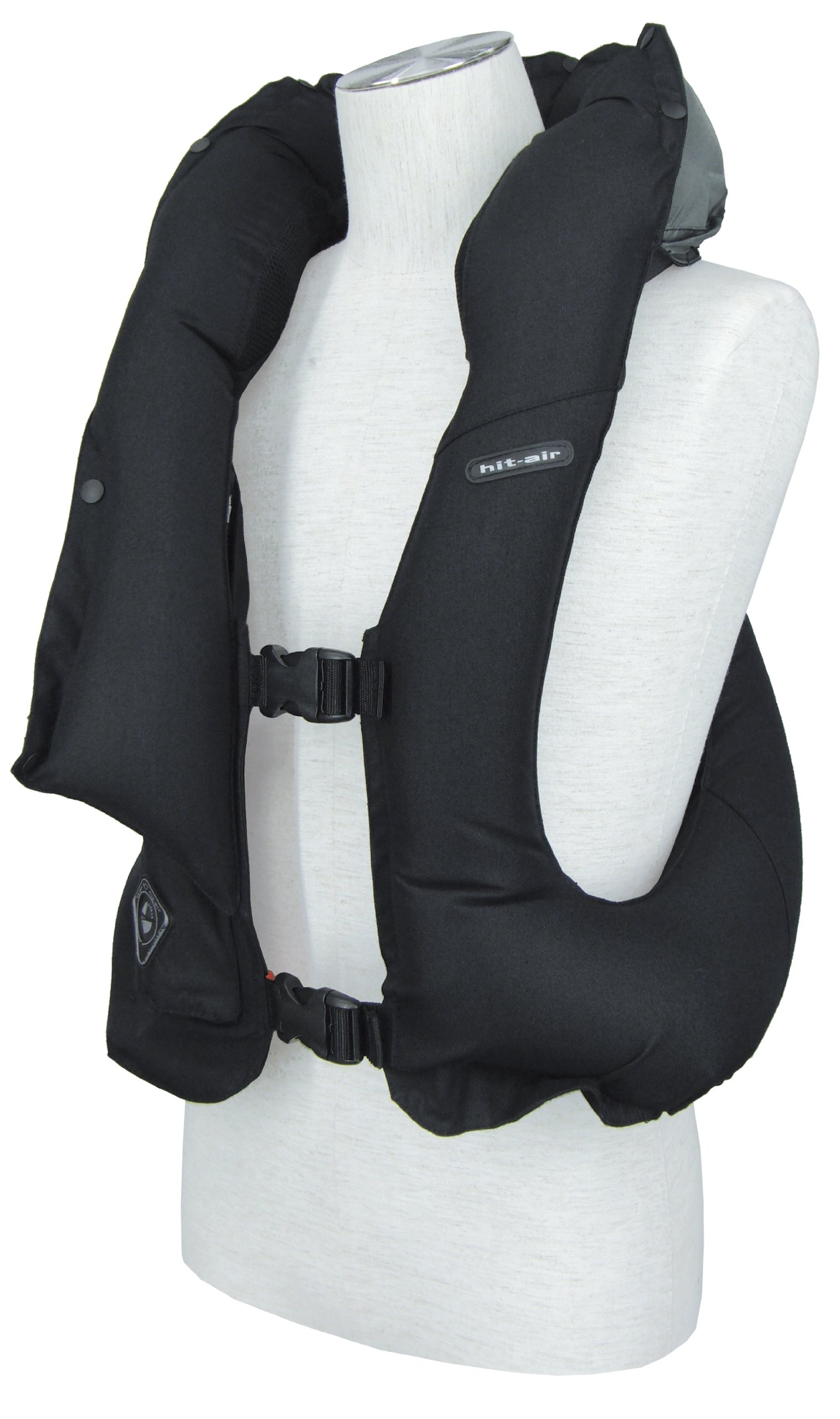 Hit-Air inflatable air vest ''LV'' model in Black Size is Adjustable. One Size Fits Adults M-L