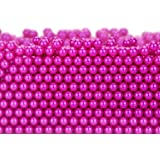 Makeup Beads for Brushes, Art Faux Pearls, HBlife 1100-Piece Round Pearl Beads to Hold Makeup Brush, Lipstick, Mascara, Eyeliner, 8mm (Rose red)