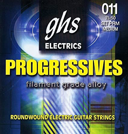 Amazon.com: GHS Strings Progressives Set Electric Guitar Strings - 11-50 - PRM: Musical Instruments