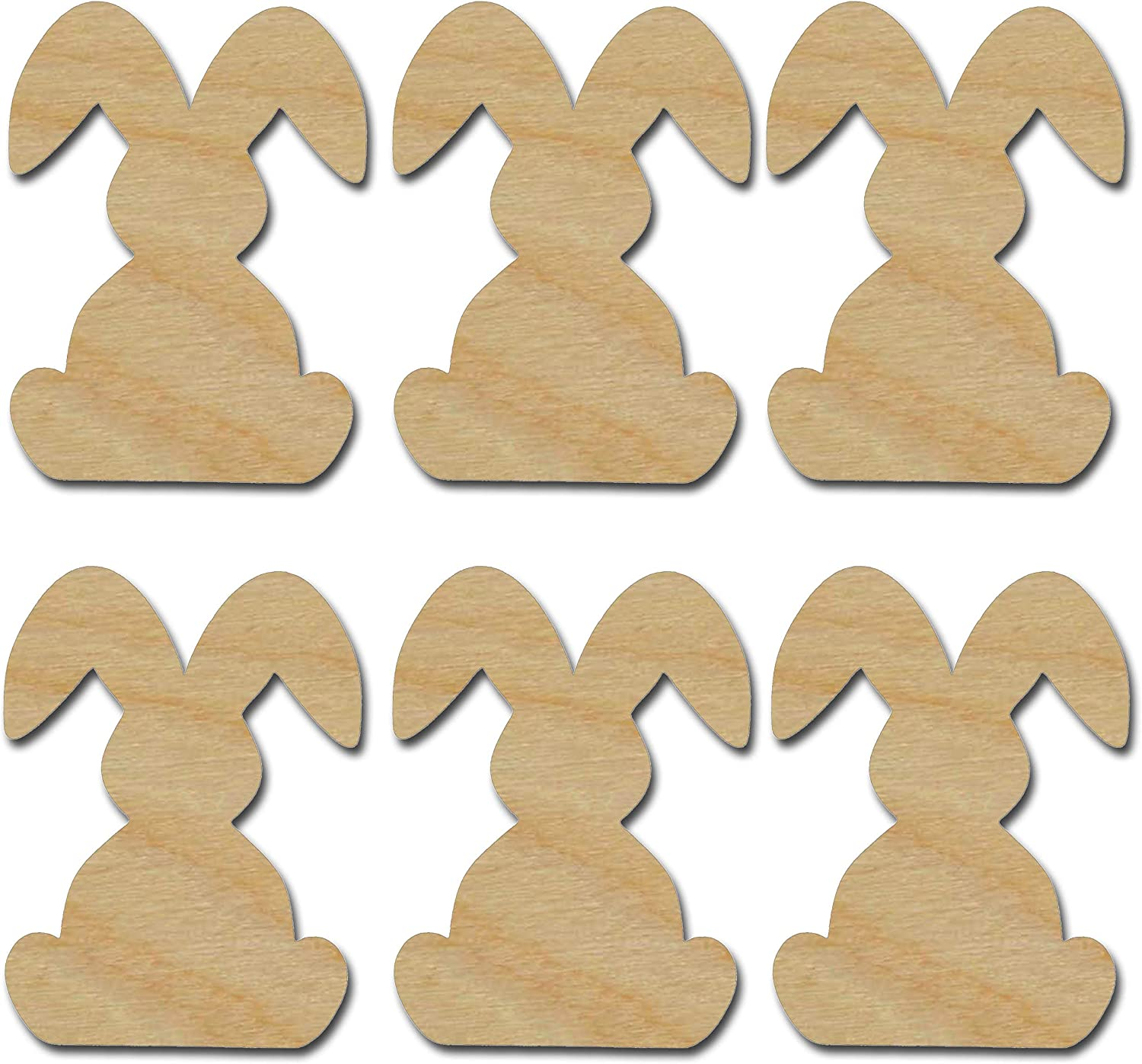 Rabbit Style 3 BUNNY Unfinished Wood Shape Cutout USA Made Various Sizes Easter