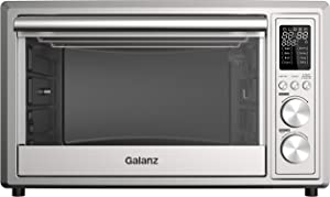 Galanz GT12SSDAN18 Toaster Oven with TotalFry 360 (Enhanced Air Fry Technology) 1800W/120V, 1.1 Cu.Ft Capacity, 8 Preset Cooking Functions, 30L, Stainless Steel (Renewed)