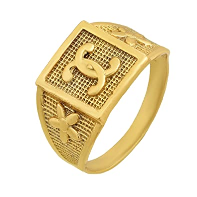 Buy RN Gold Plated Brass Covered C Channel Design, Stylish