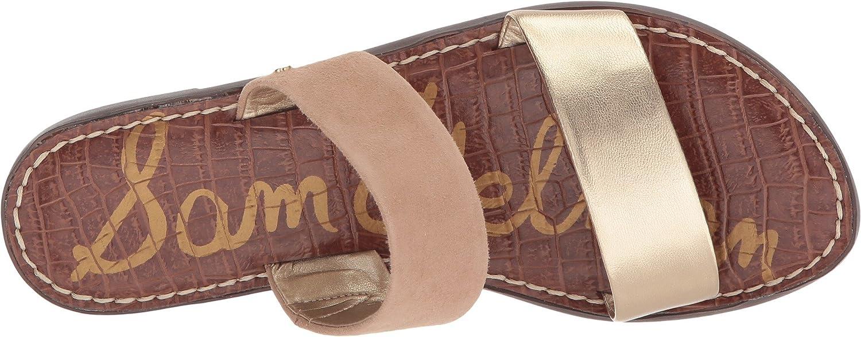 Sam Edelman Women's Gala Slide Sandal Metallic B0767BLDZY 9 B(M) US|Gold/Nude Metallic Sandal Leather/Kid Suede Leather bb3130