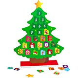90shine Countdown to Christmas Magnetic Advent Calendar for Kids - Xmas Holiday Favors Toys Gifts Decorations Ornaments Party