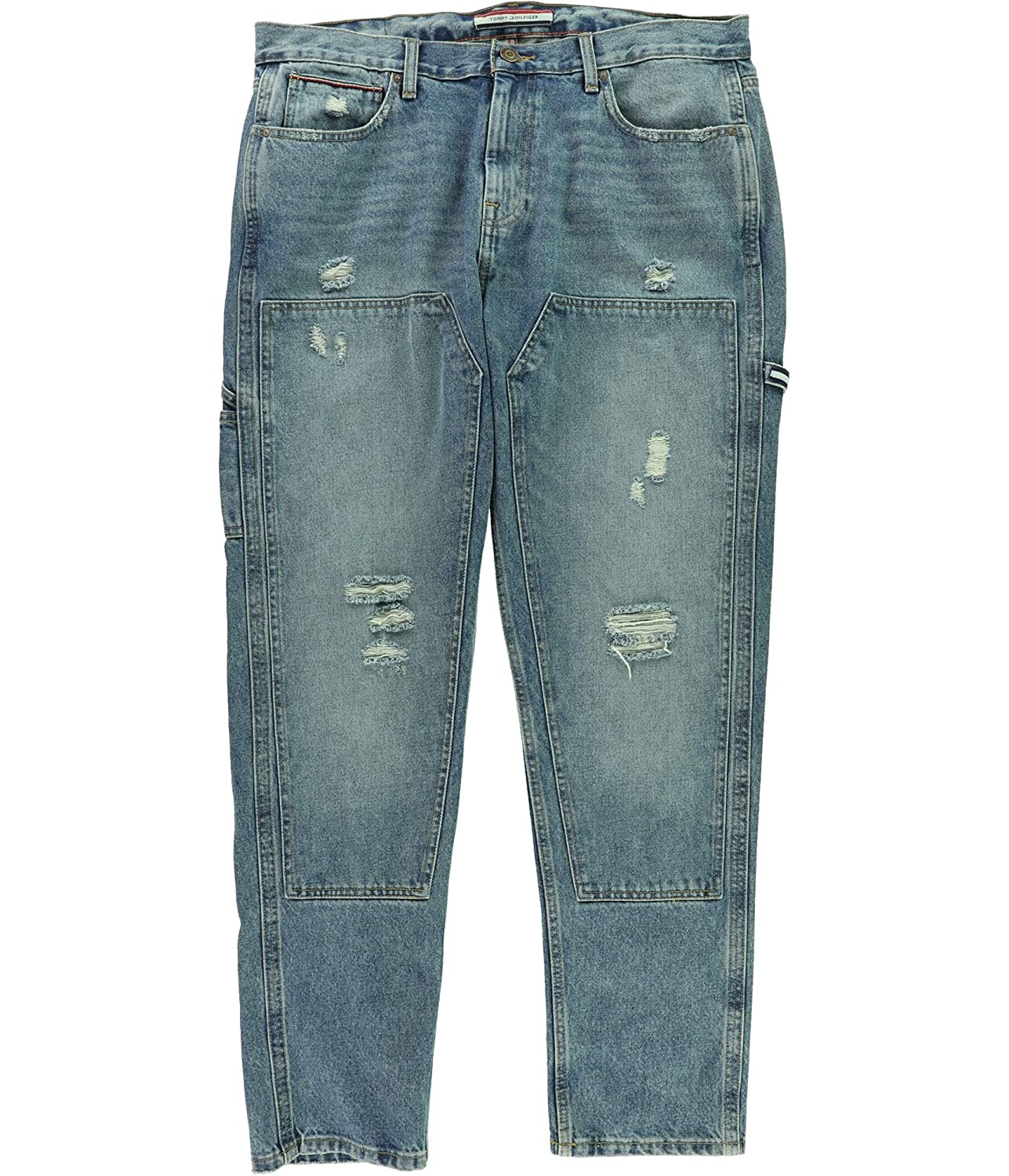 Tommy Hilfiger Mens Distressed Relaxed Jeans