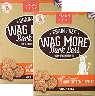 product image for Cloud Star Wag More Oven Baked Grain Free Biscuits - 28 Ounce Peanut Butter, Apples