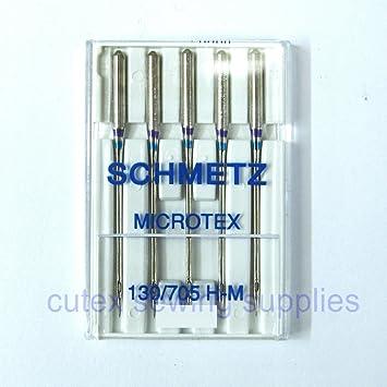 Schmetz 130/705h-m Microtex (Sharp) Agujas para casa máquinas de coser - 5 Pk: Amazon.es: Juguetes y juegos