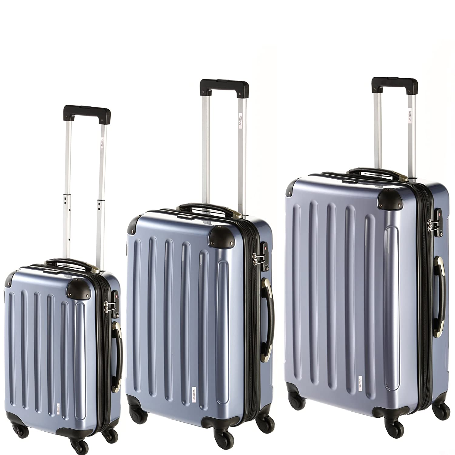 INVIDA 4w Trolley New York mit TSA-Schloss ANTHRAZIT als Set 7260i-A-Set