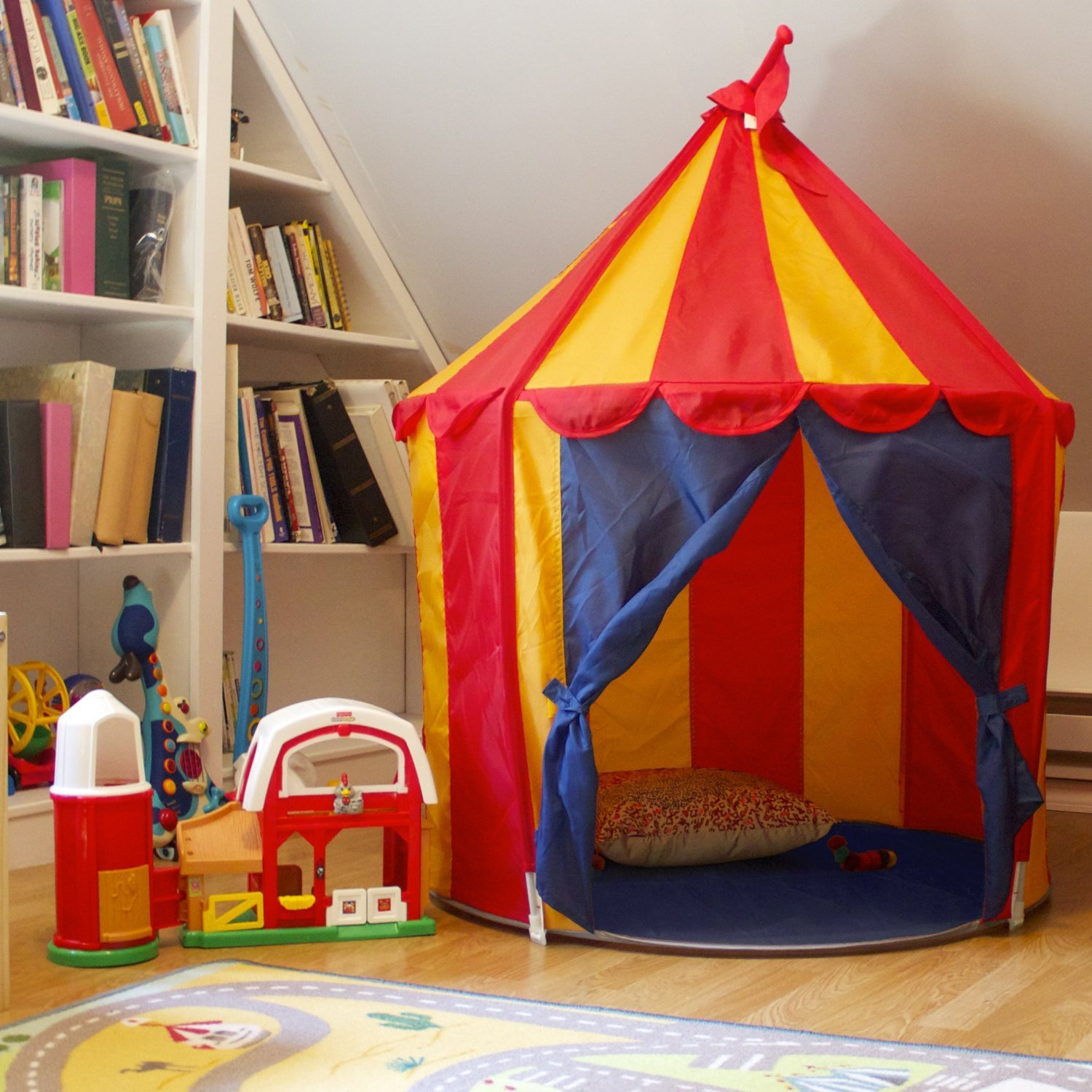 Amazon.com Childrenu0027s Indoor Play Tent -- CIRCUS TENT- Great Gift for Kids Toys u0026 Games & Amazon.com: Childrenu0027s Indoor Play Tent -- CIRCUS TENT- Great Gift ...