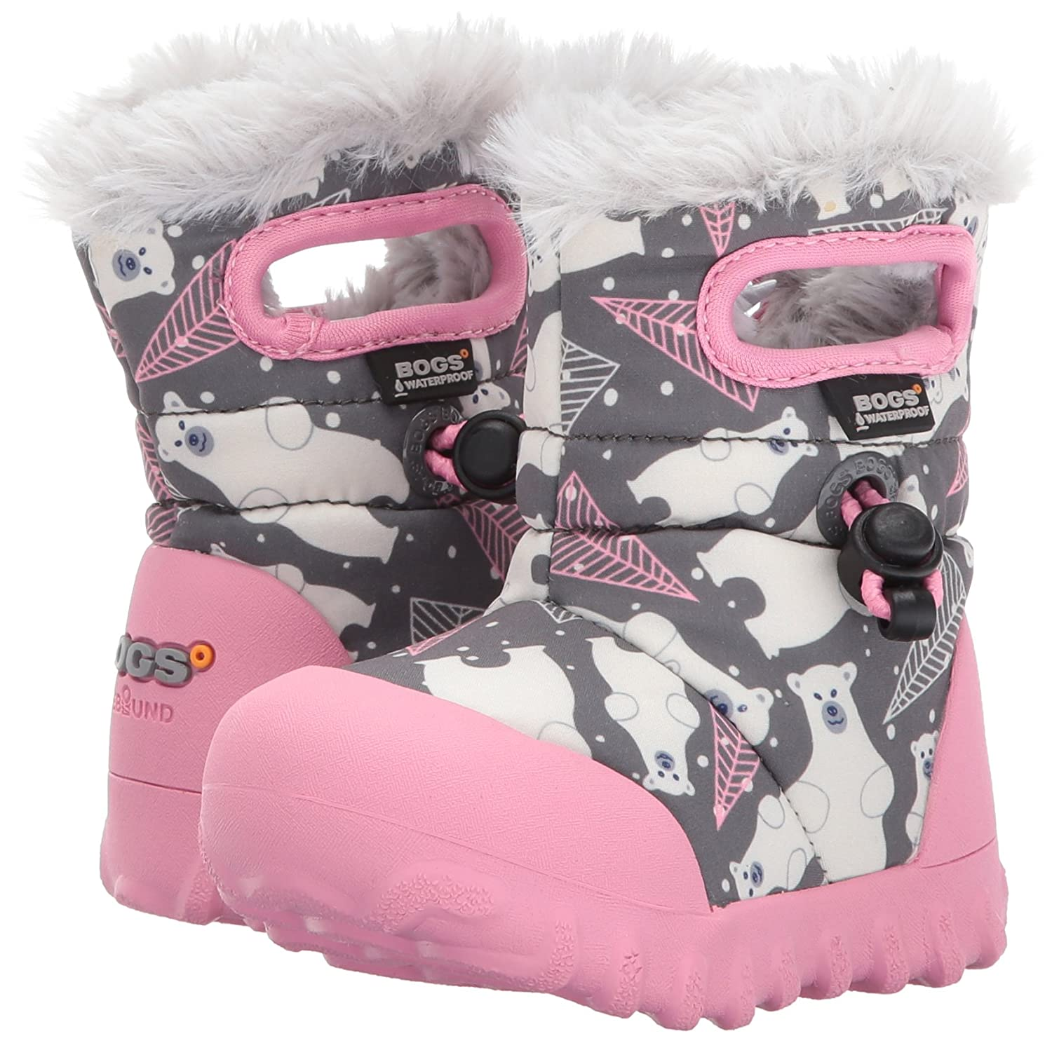 Girls Baby Bogs BMOC Bears Purple Waterproof Insulated Warm Lined Wellies Boot 721791-UK 3 (EU 20) mWqxD