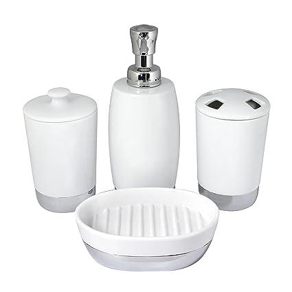 Amazon.com: MODONA Four Piece PORCELAIN Bathroom Accessories Set ...