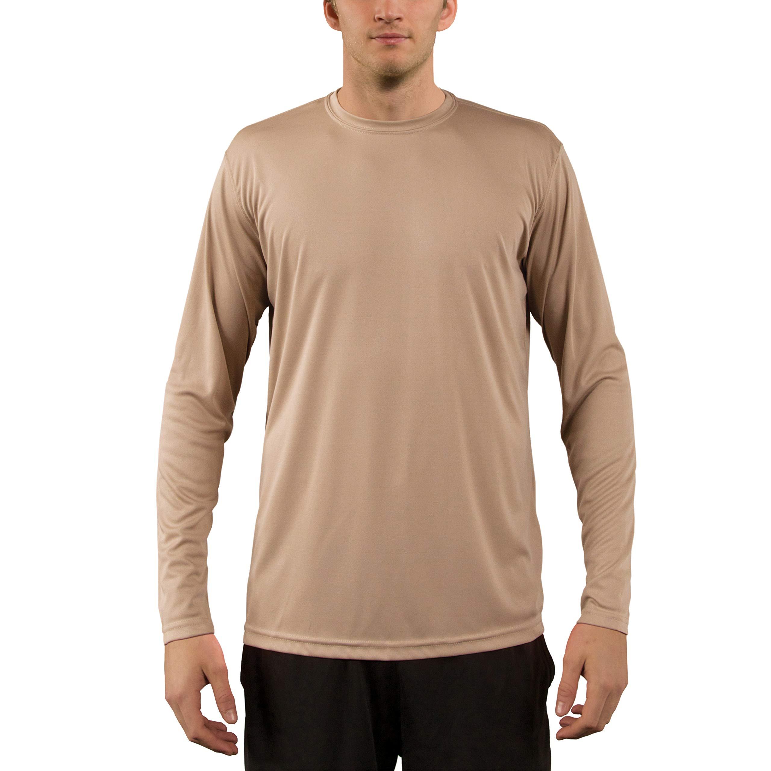 dedf26a797b Vapor Apparel Men s UPF 50+ UV Sun Protection Performance Long Sleeve  T-Shirt