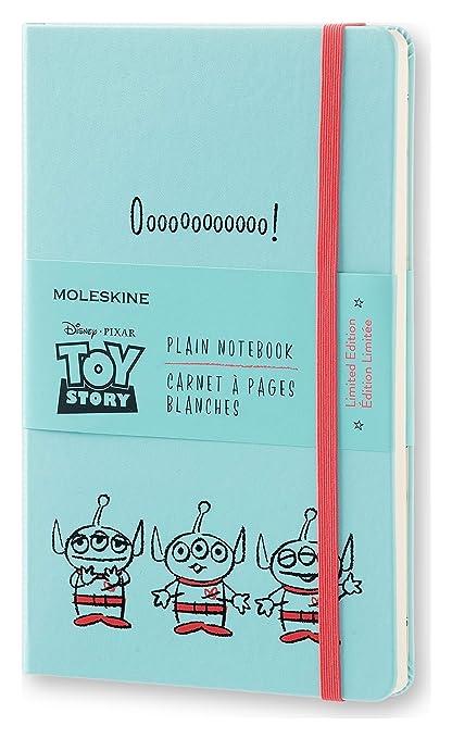 Moleskine LETSQP062 - Cuaderno diseño Toy story, liso, edición limitada, L 13 x 21, color azul