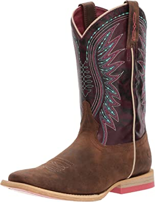 Ariat Western Ragazza Cintura Kids intarsio Conchiglia Cross Conchos Brown A1302802