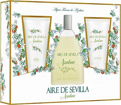 Oferta amazon: Aire de Sevilla Set de Belleza Edición Azahar - Crema Hidratante Corporal, Eau de Toilette, Gel Exfoliante