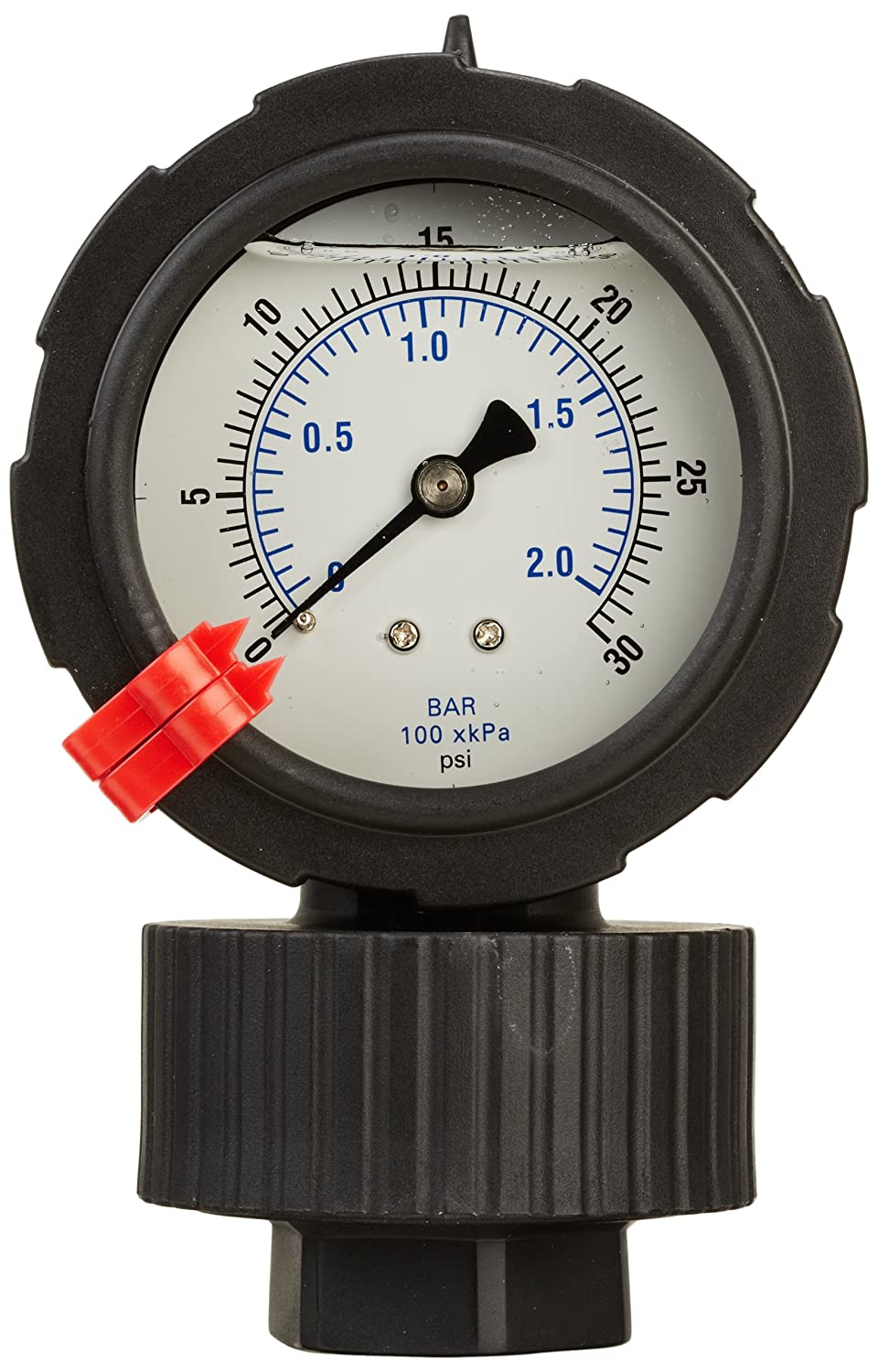 1//4 Female NPT Connection Size and Polycarbonate Lens 0//30 psi Range Bottom Mount Glycerine Filled Molded Pressure Gauge and Diaphragm Seal with a Polypropylene Case PIC Gauge 701LDS-254C  2.5 Dial Polypropylene Lower Housing Viton Diaphragm