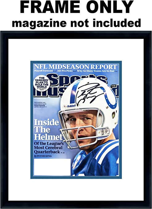 Amazon Com Sports Illustrated Magazine Frame With Indianapolis Colts Colors Double Mat
