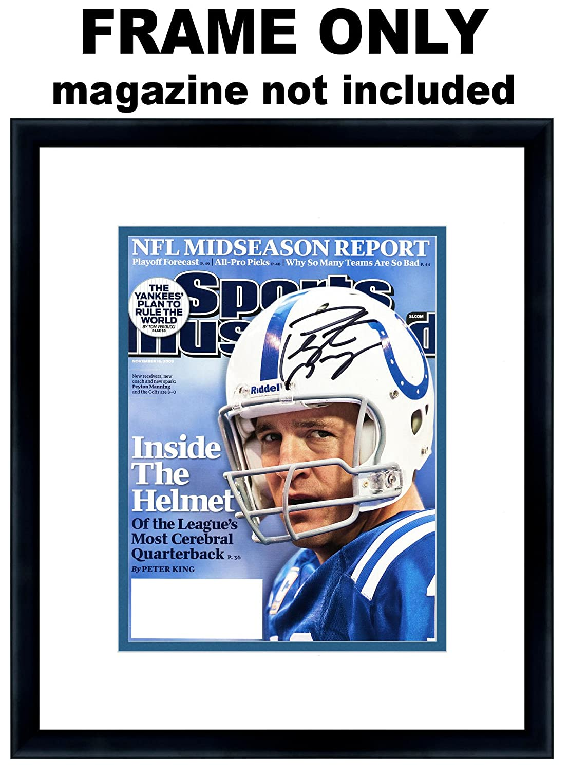 wholesale dealer 67880 2192a Amazon.com - Sports Illustrated Magazine Frame - with Indianapolis Colts  Colors Double Mat -
