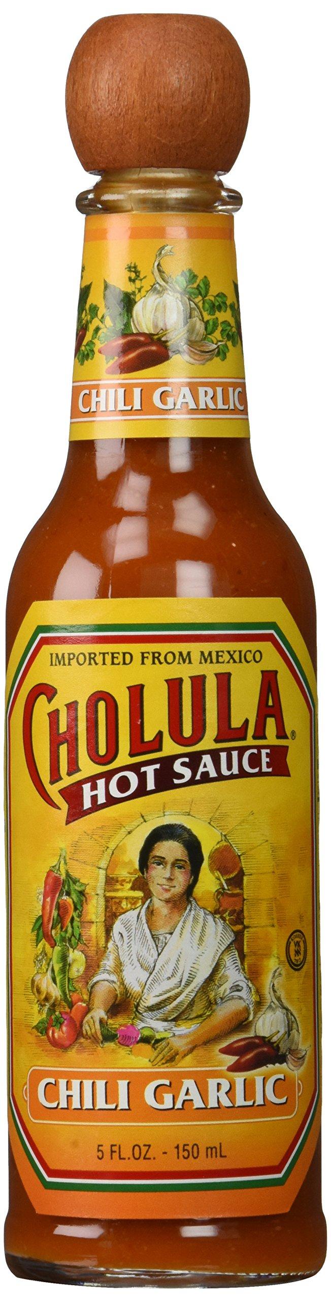 Cholula Chili garlic Hot Sauce, 5 Fl Oz (Pack of 3)