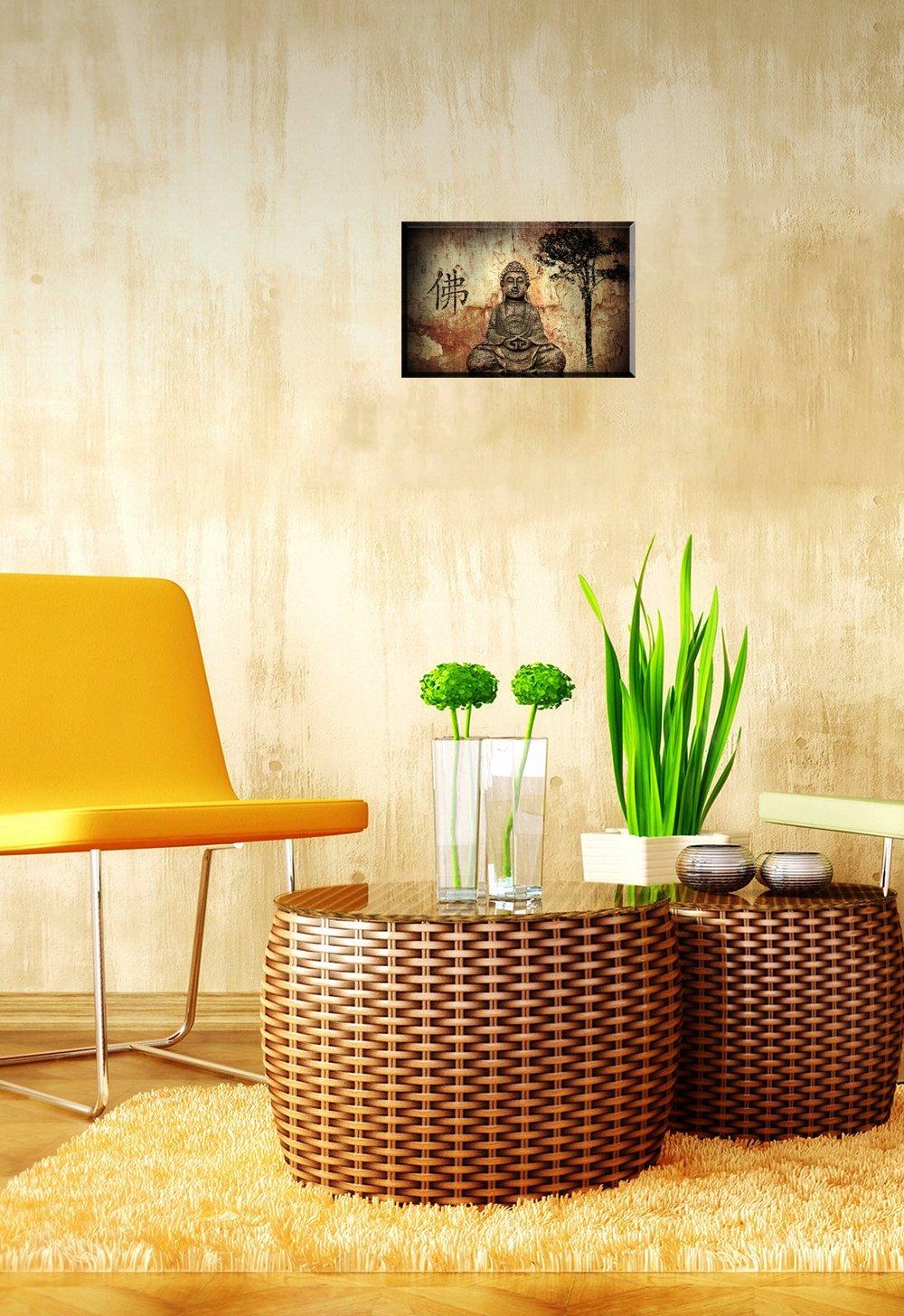 Amazon.com: PIY 1 Panel Buddha Wall Art, Zen Canvas Prints Wall ...