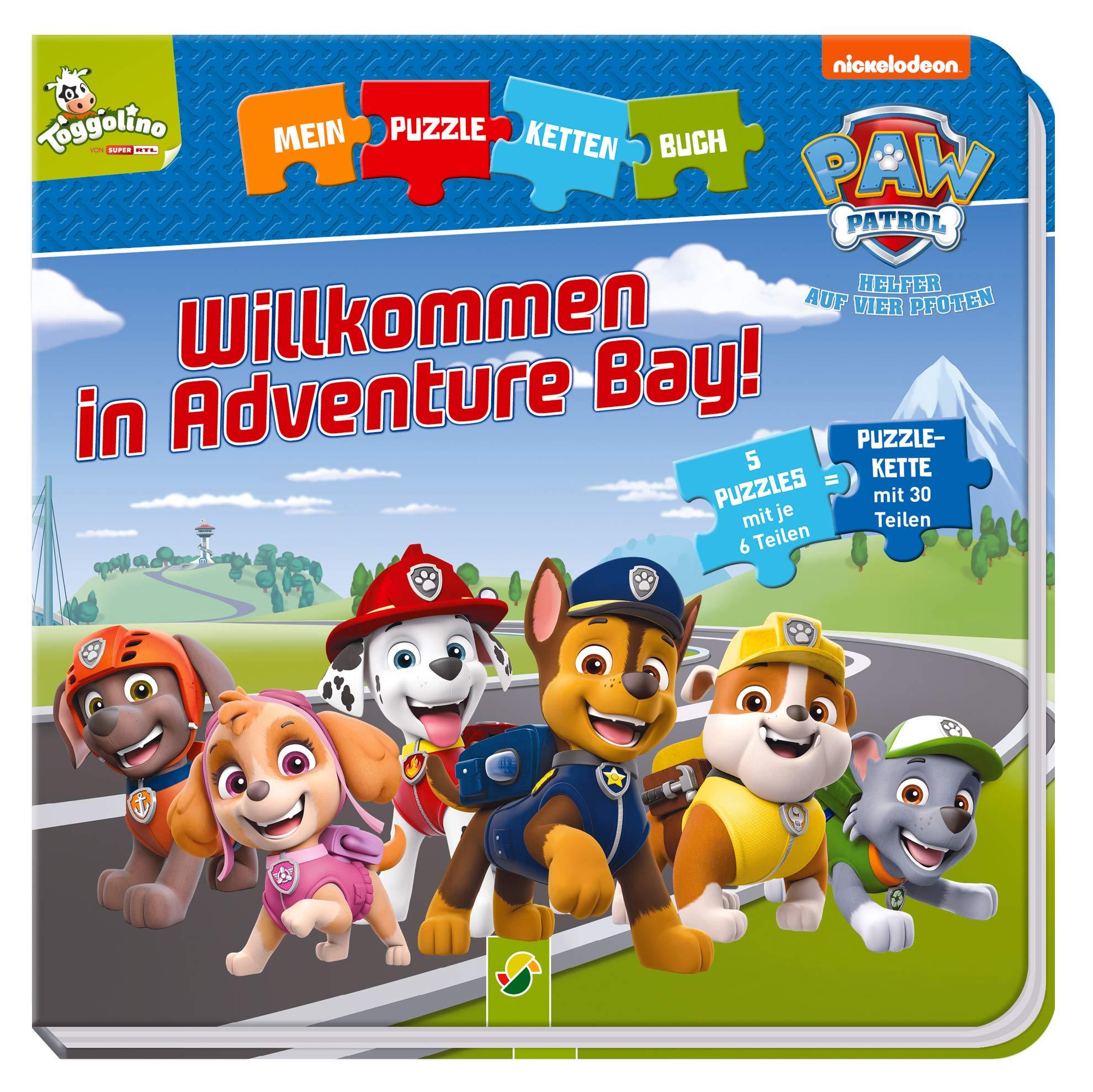 Paw Patrol   Willkommen In Adventure Bay   Puzzlekettenbuch Mit 5 Puzzles Mit Je 6 Teilen
