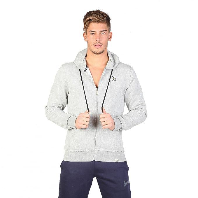 guru Giacca Felpa Grigio Melange XL: Amazon.it: Abbigliamento