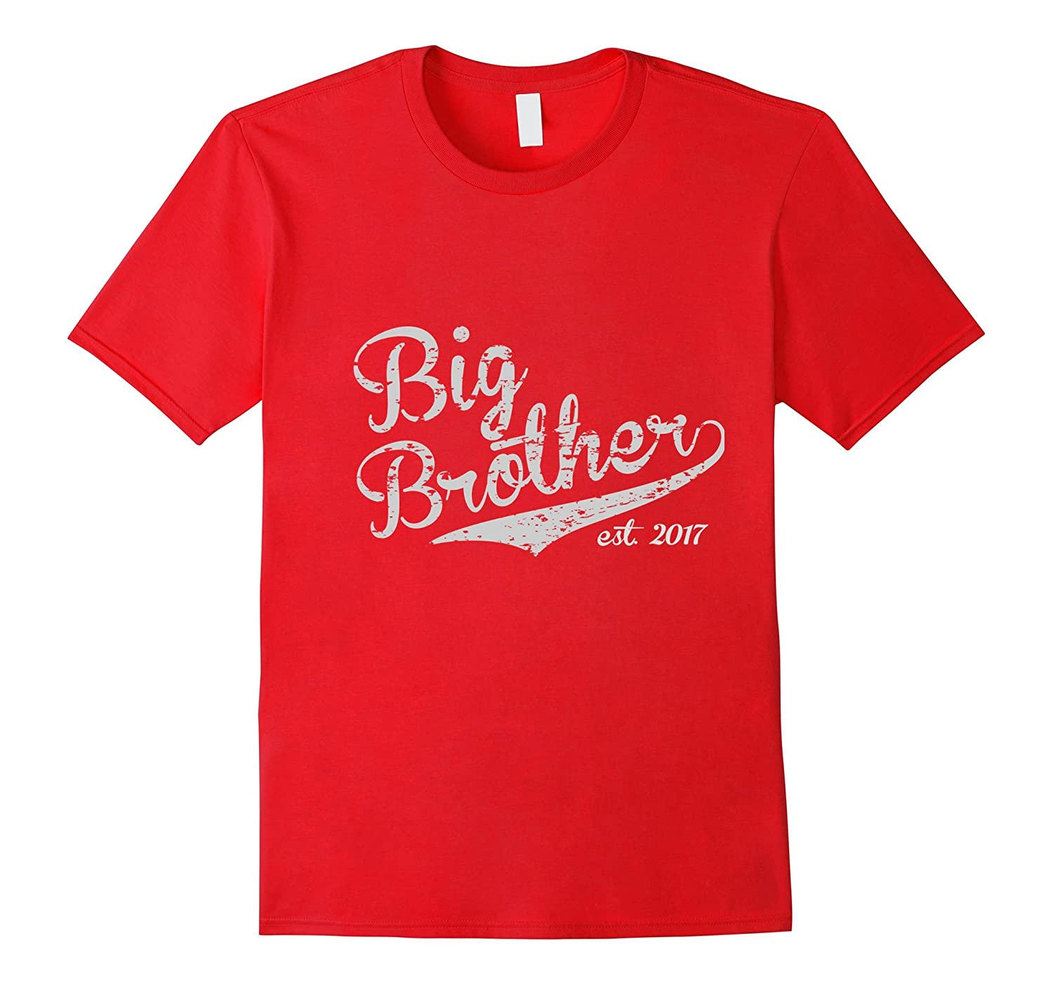 Big Brother Est 2017 Vintage Style Tee - Adult  Youth Size-CD