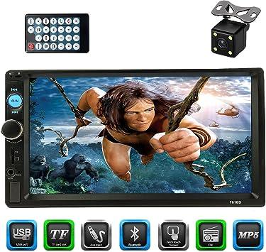 CACA 7 pulgadas doble Din pantalla táctil en salpicadero estéreo ...