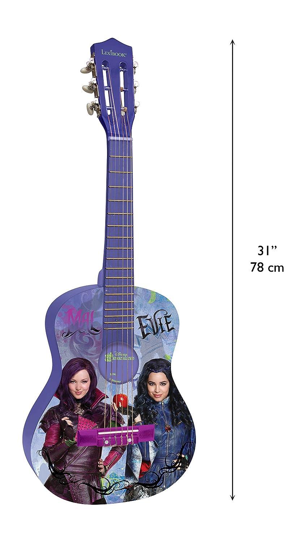 Los Descendientes de Disney Los Descendientes-Guitarra Clásica De 6 Cuerdas, 78 cm Largo, Material de Madera (Lexibook K2000TD), Color Violet/Noir ...