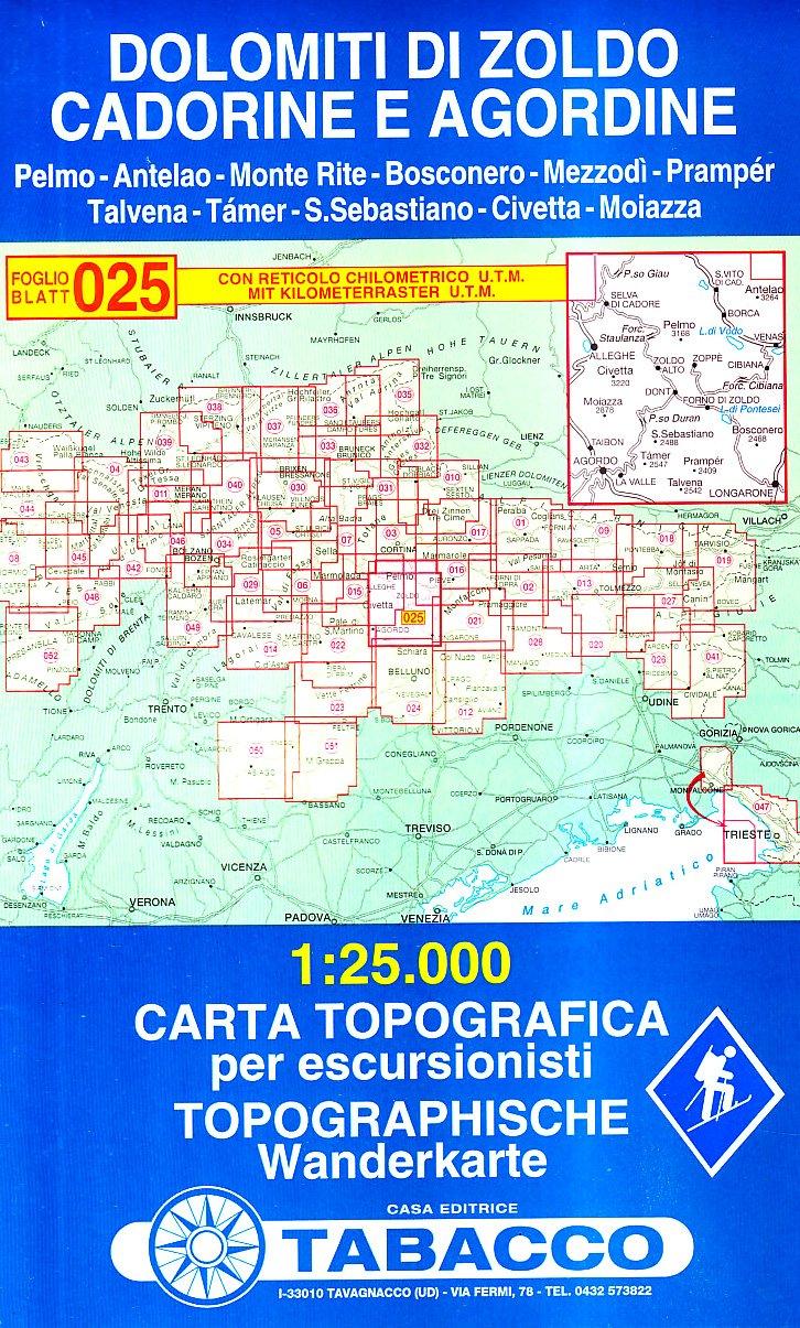 Cartina Tabacco 015.Dolomiti Di Zoldo Cadorine E Agordine Cartes Topograhiq 1 25 000 French Edition Tabacco Casa Editrice 9788883150258 Amazon Com Books