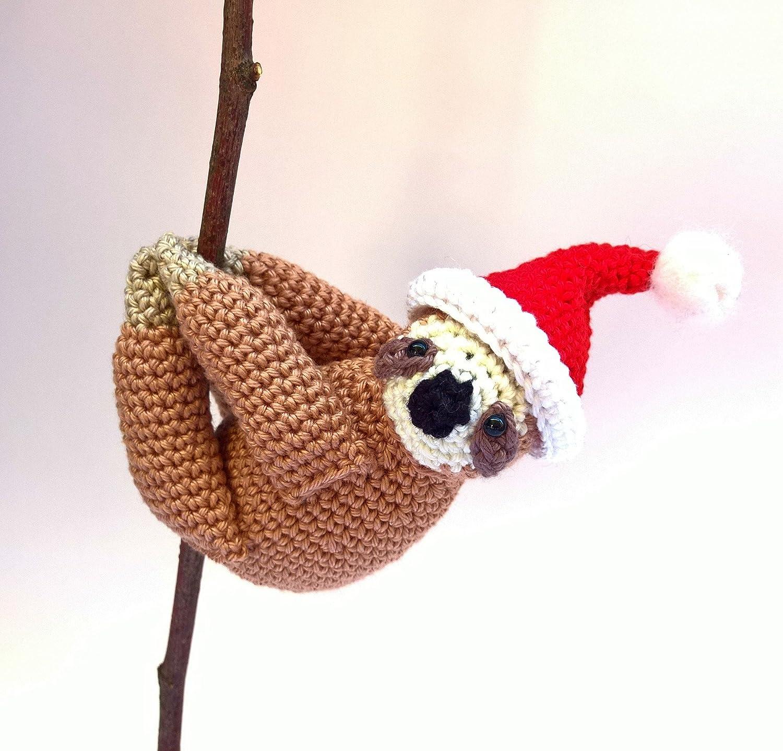Oso perezoso de Navidad ornamento divertido de Navidad Pap/á Noel oso perezoso